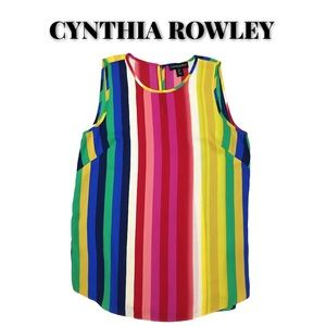 NWOT Cynthia Rowley Striped Shell Top, Size Small